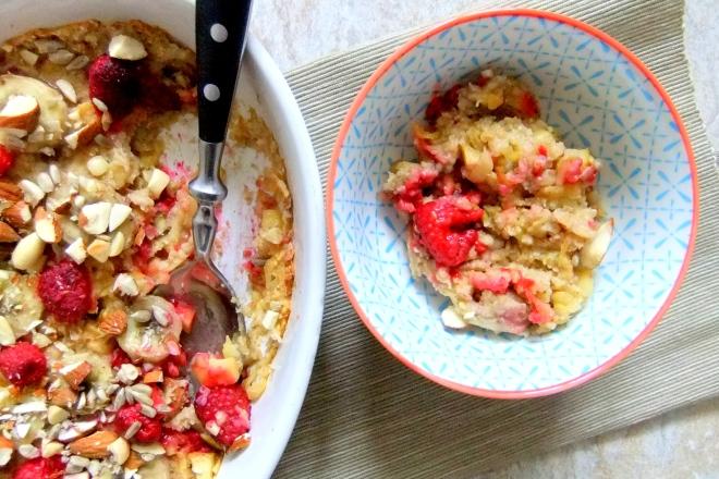 oatmeal baked apple raspberry and raisin (8)